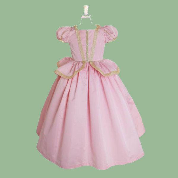 Robe de deguisement rose de princesse rose
